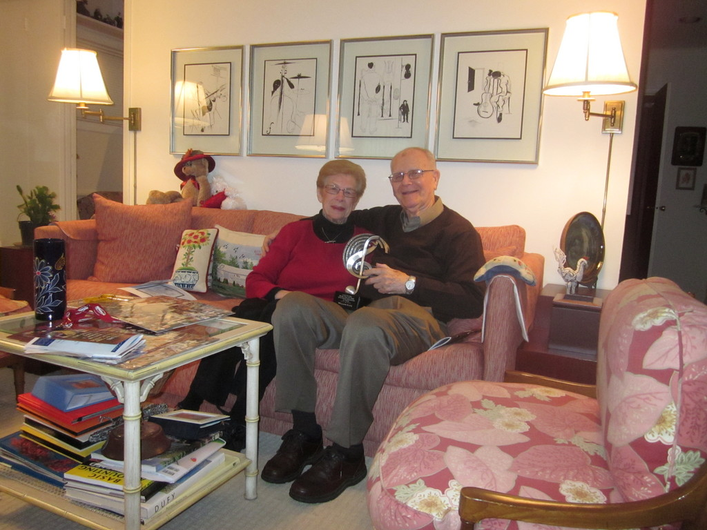 Bill Katz, 83, with his wife Gloria, in his East Meadow home.