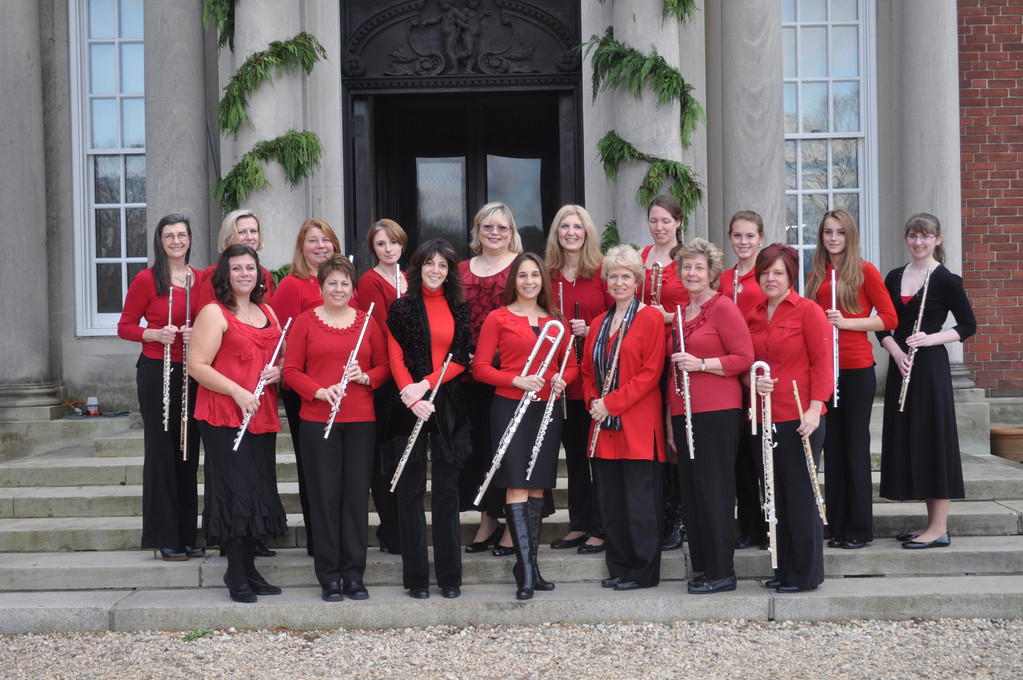 Holiday harmonies: The Long Island Flute Club's Holiday Flute Choir brings some musical cheer to Old Westbury Gardens, on Dec. 2. The ensemble performs a variety of festive classics, showcasing all members of the flute family, from piccolo to bass flute.