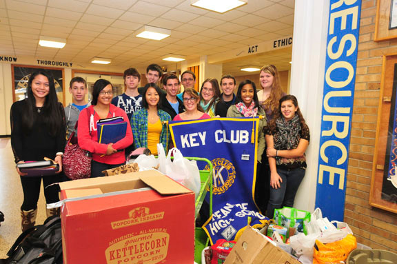 The key club helped collect a great deal of food for the Turkey Shoot.