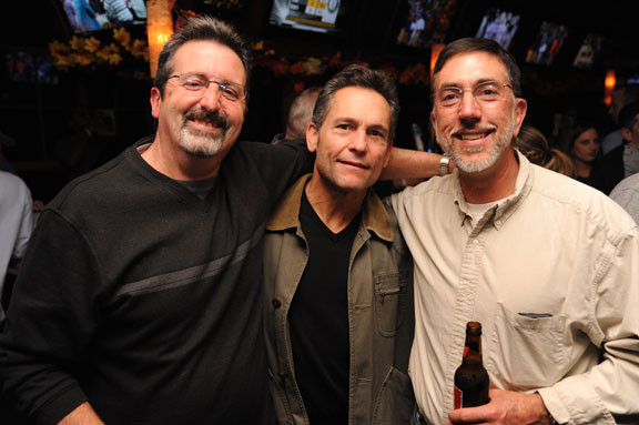 Jim Liebow, Bill Perrone and Glenn Grodski, from left, showed their support for the Calhoun High School Alumni Associaiton at the Friday After Thanksgiving Party..
