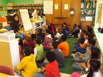 The entire school community at Shaw Avenue Elementary School has been nominated to the U.S. Department of Education for the 2013 Blue Ribbon Award due to students' outstanding work in the classrooms. Above, Melissa Pascuma–Gangi's teaches her fourth-grade class.