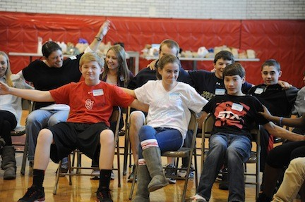 Kevin Kenny, Grace LaCava, Joe LiCalzi get comfortable with themselves and each other during Challenge Day late last month.