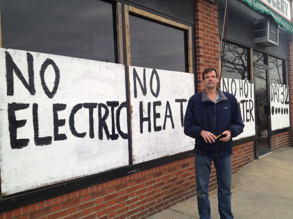 P.J. Whelan, co-owner of Lindell Deli at 577 W. Park Ave., said the business and apartments upstairs have been without power and heat for more than a month.