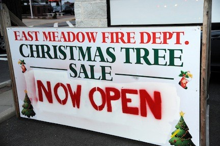 The Christmas tree sale is open all throughout December.