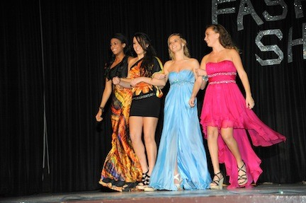 Wellington C. Mepham High School students modeled formal wear, including gowns donated by Estelle's Dressy Dresses, at the school's second annual fashion show on Nov. 29. The event was a fundraiser for the junior class.