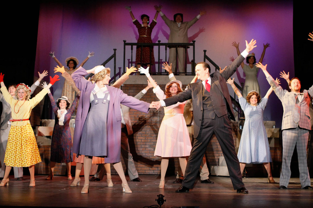 "It's a celebration of the stuff that dreams are made of in BroadHollow Theatre's ""42nd Street,"" now playing at its Elmont theater."