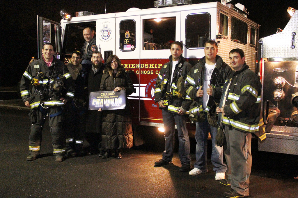 For the first time, members of the Merrick Fire Department led the annual Great Menorah Car Parade.