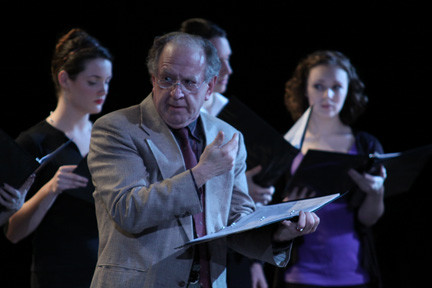 "Adelphi University faculty member Dr. Brian Rose is joined Adelphi students in a radio-style staged reading of ""A Christmas Carol"" on Sunday."
