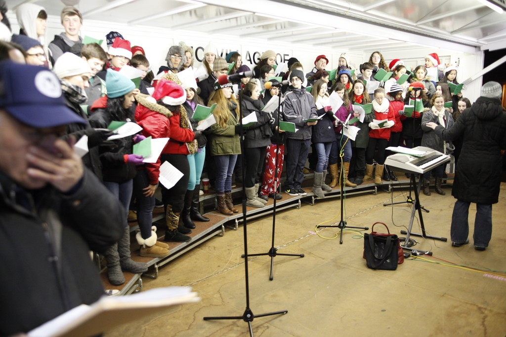 Southside Students performed holiday music at the at the Rockville Centre Tree Lighting ceremony on Dec. 6.
