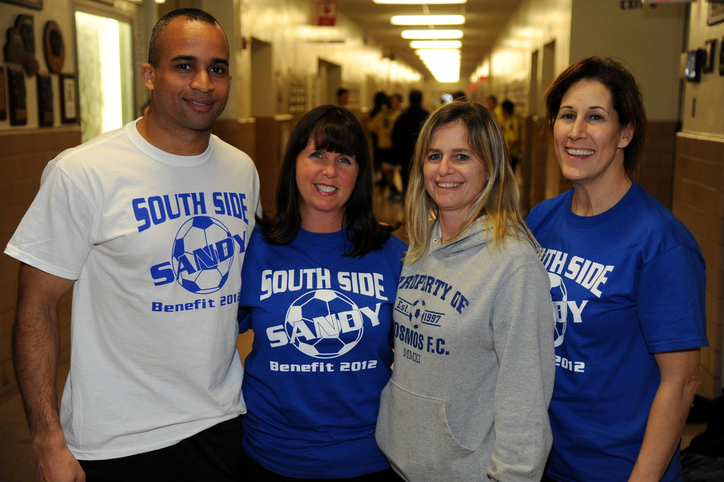 Fred Paul, Dorothy Hines, Lauren Urban and Hillary Michelson enjoyed the success of the soccer clinic and round-robin tournament they organized at SSHS.