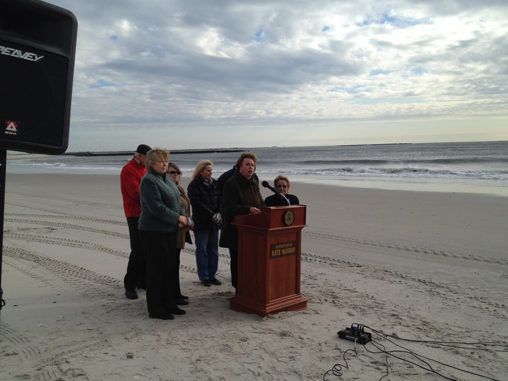 Hempstead Town Supervisor Kate Murray called on the Army Corps of Engineers and the State Department of Environmental Conservation to finalize a coastal protection plan for the barrier island that was defeated by the City of Long Beach in 2006.