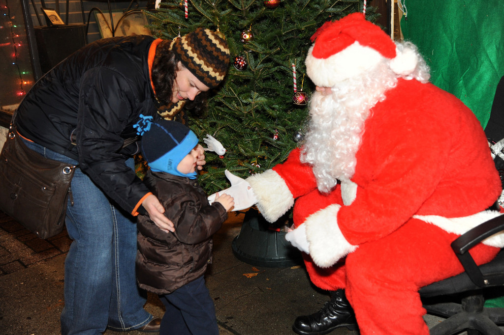 Santa greeted children at the event.