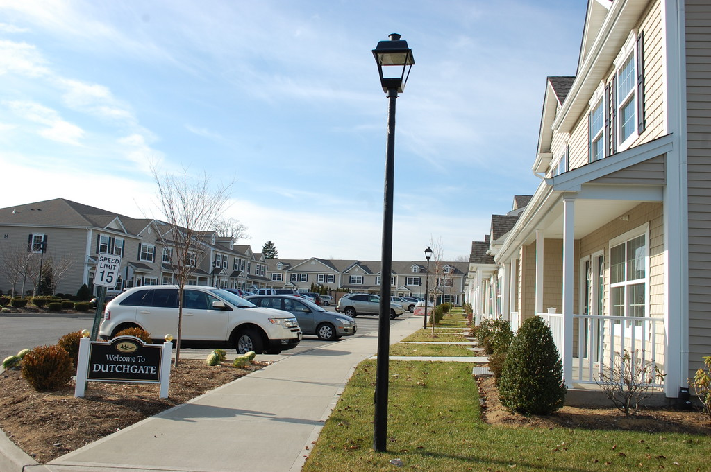 About half of the Dutchgate senior housing complex in North Valley Stream has been completed.