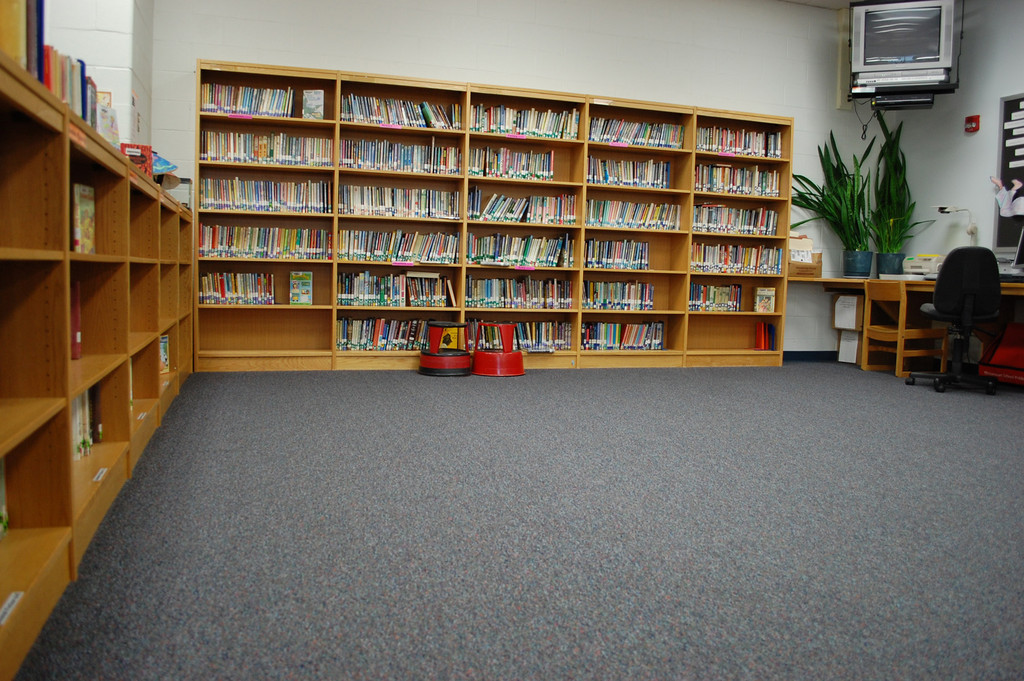 The carpet in the Shaw Avenue School library will be replaced because it is ripping and bubbling in some spots.