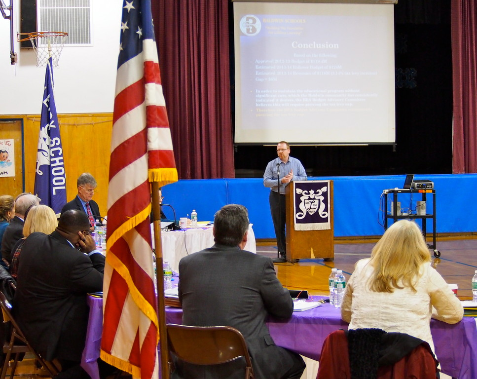 Joel Press closed the Budget Advisory Committee�s presentation.