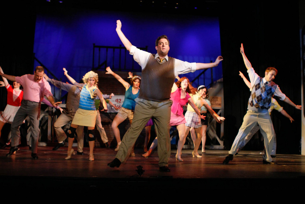 "Those ""dancing feet"" delight audiences in the BroadHollow Theatre's staging of ""42nd Street,"" now playing in Elmont."