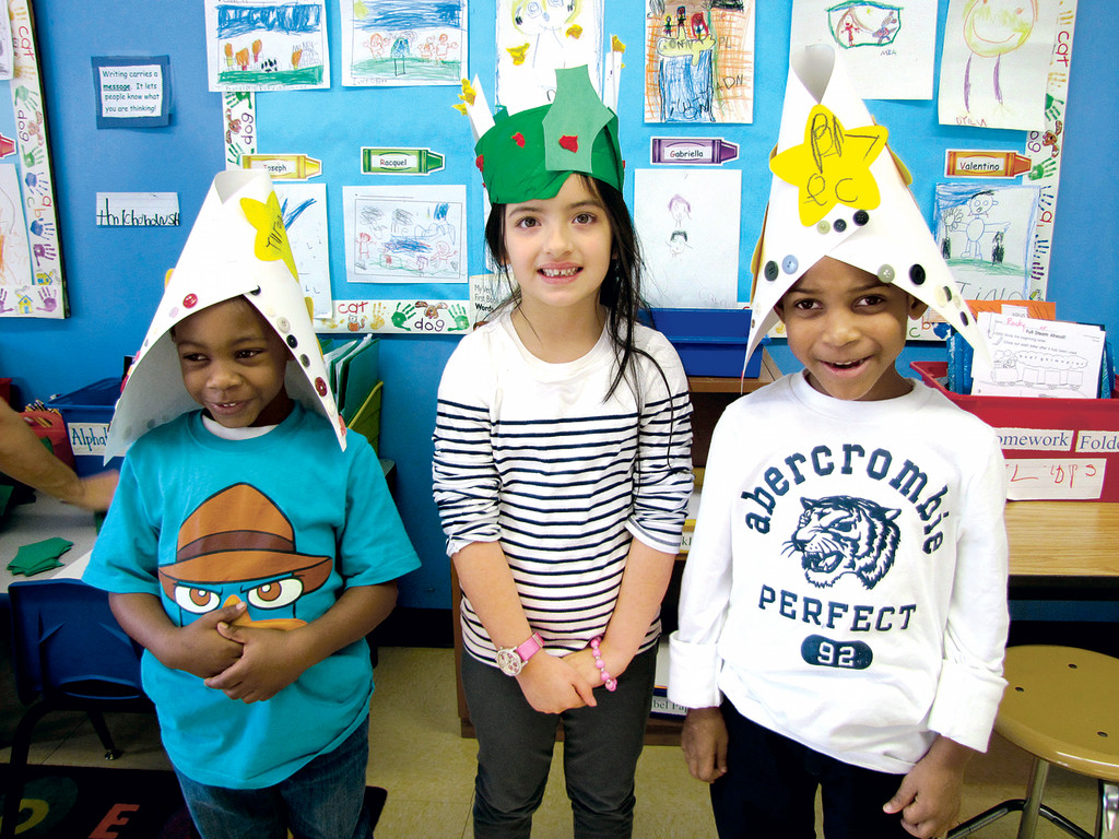 Crowned students learned about the Swedish feast of St. Lucia.