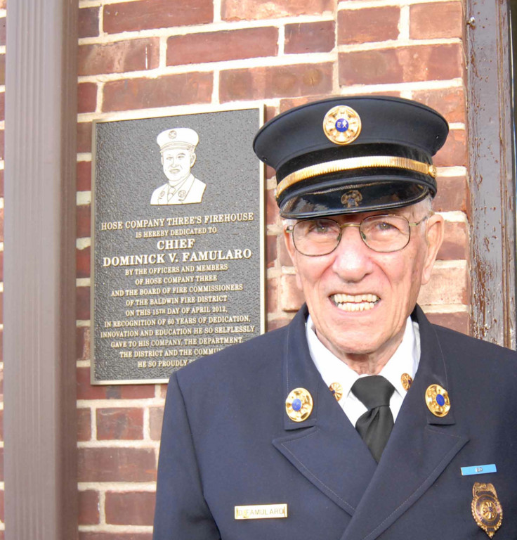 Dominick Famularo celebrated 61 years with the fire department and graduated from high school in the same year.