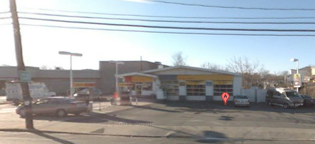 A man allegedly robbed an unspecified amount of money at gunpoint from the Shell gas station on Rosedale Road in North Woodmere.