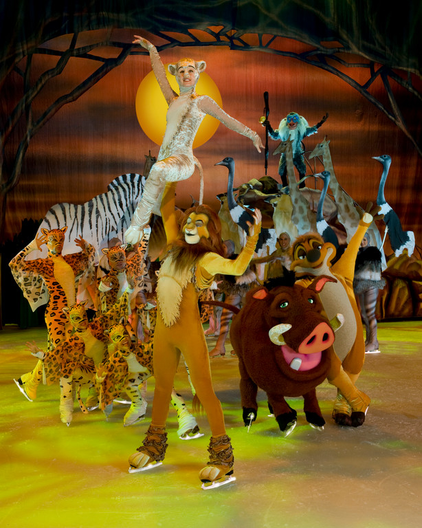 "Simba and Nala and their friends join in the Circle of Life in a dramatic sequence from ""The Lion King."""