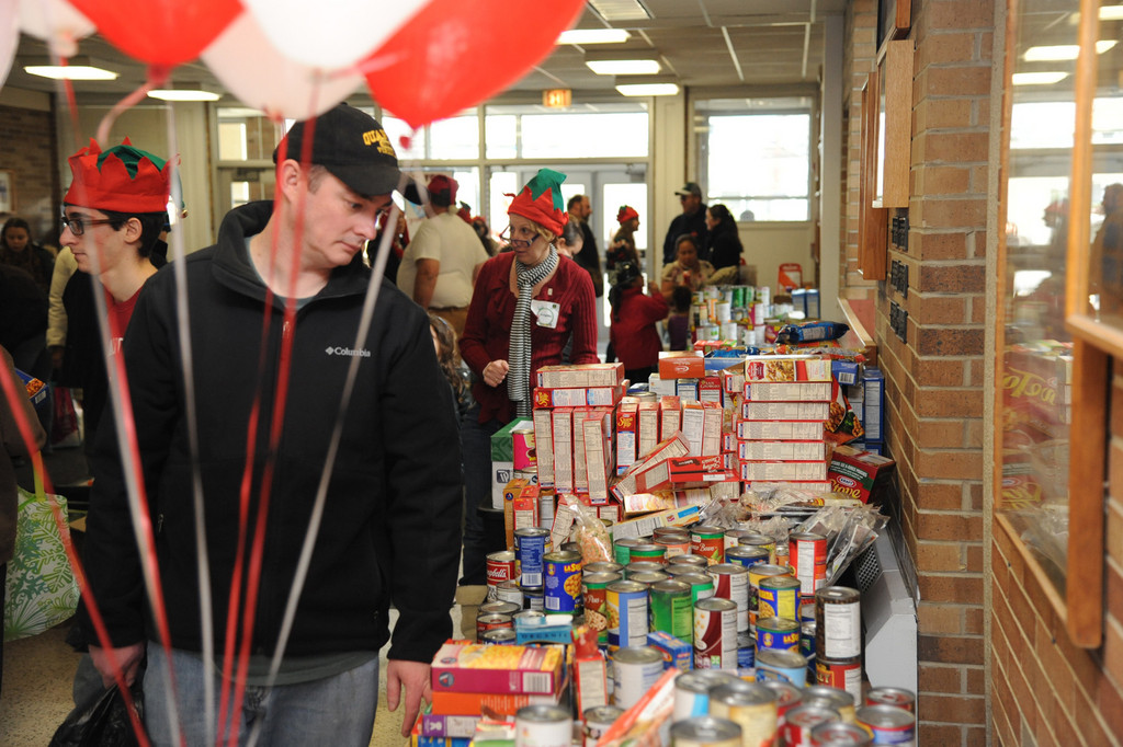 Hundreds of pounds of food was available thanks to donations to OCS.