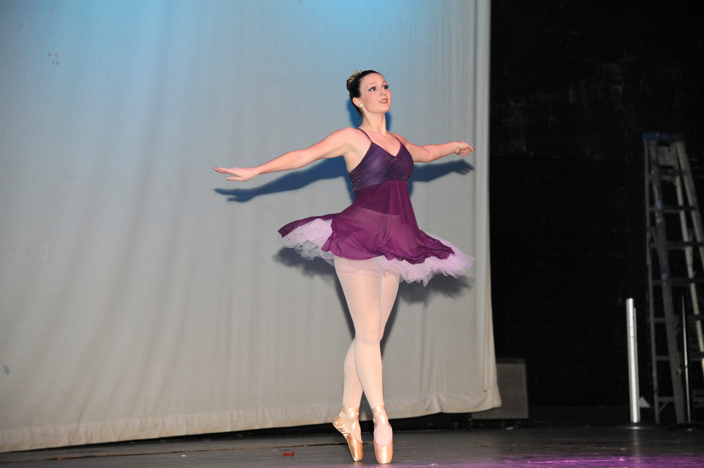 Cara Leggio took second place at the talent show for her ballet act.