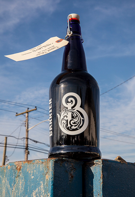 Commemorative swing-top bottles were sold at Barrier Brewing Company on Dec. 15. It was the company's first growler session since Hurricane Sandy hit.