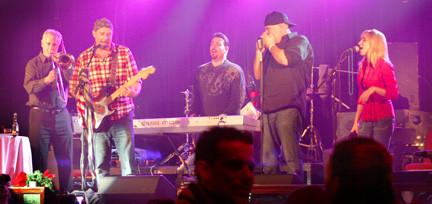 Benior and the Long Beach All Stars rocked out during a benefit concert for Hurricane Sandy victims on Dec. 19.