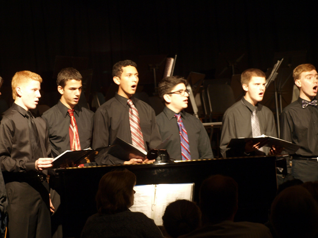 "The high school men's choir brought the sounds of Billy Joel's ""The Longest Time"" to Long Beach at the annual winter concert."