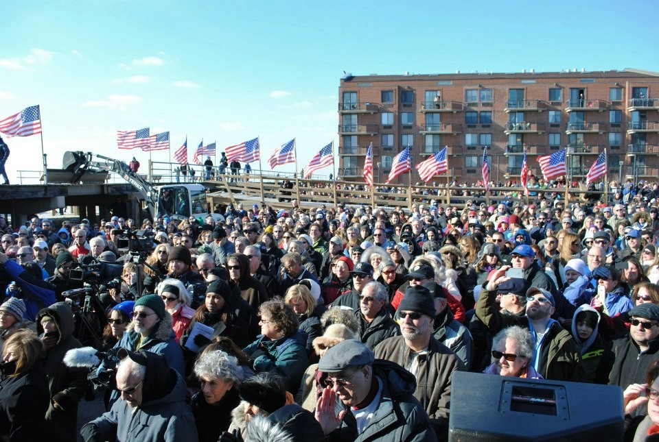 Thousands turned out to the boardwalk ceremony on Jan. 5.