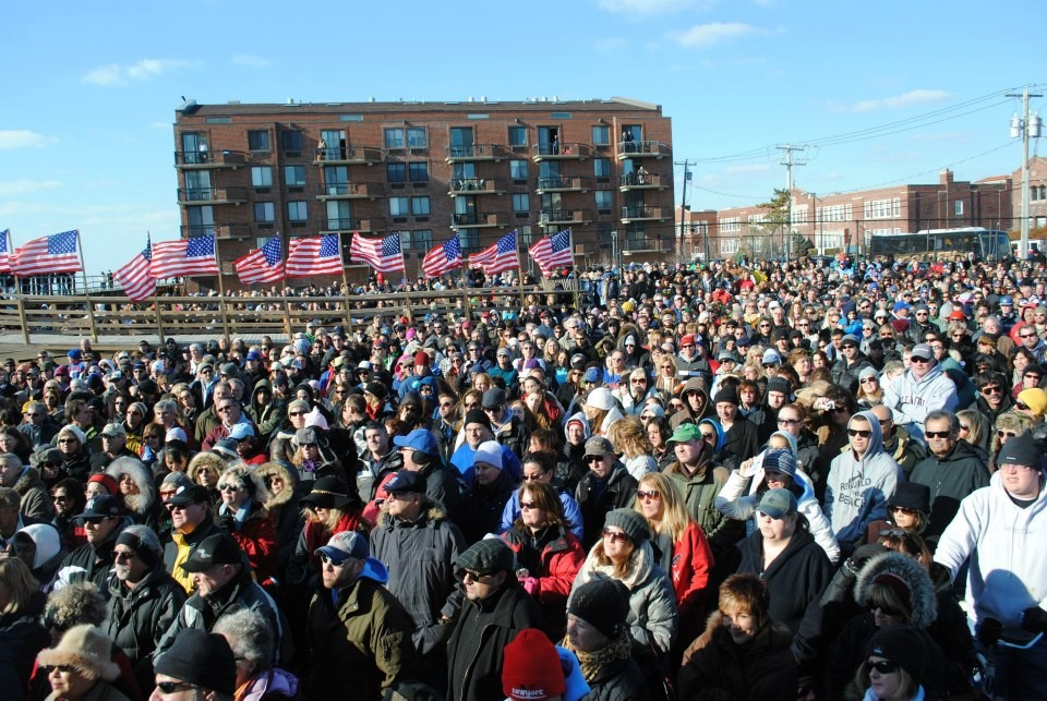 Thousands turned out to the boardwalk ceremony.