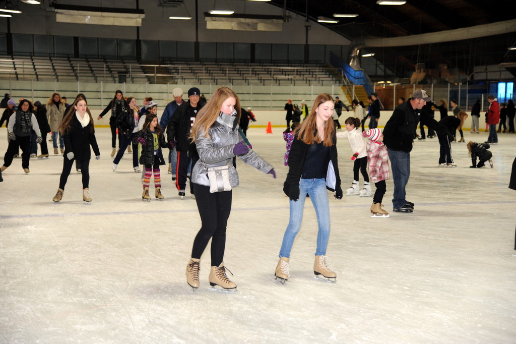 Long Islanders from across the county come to Bellmore for the Newbridge Arena's public skating sessions every 
