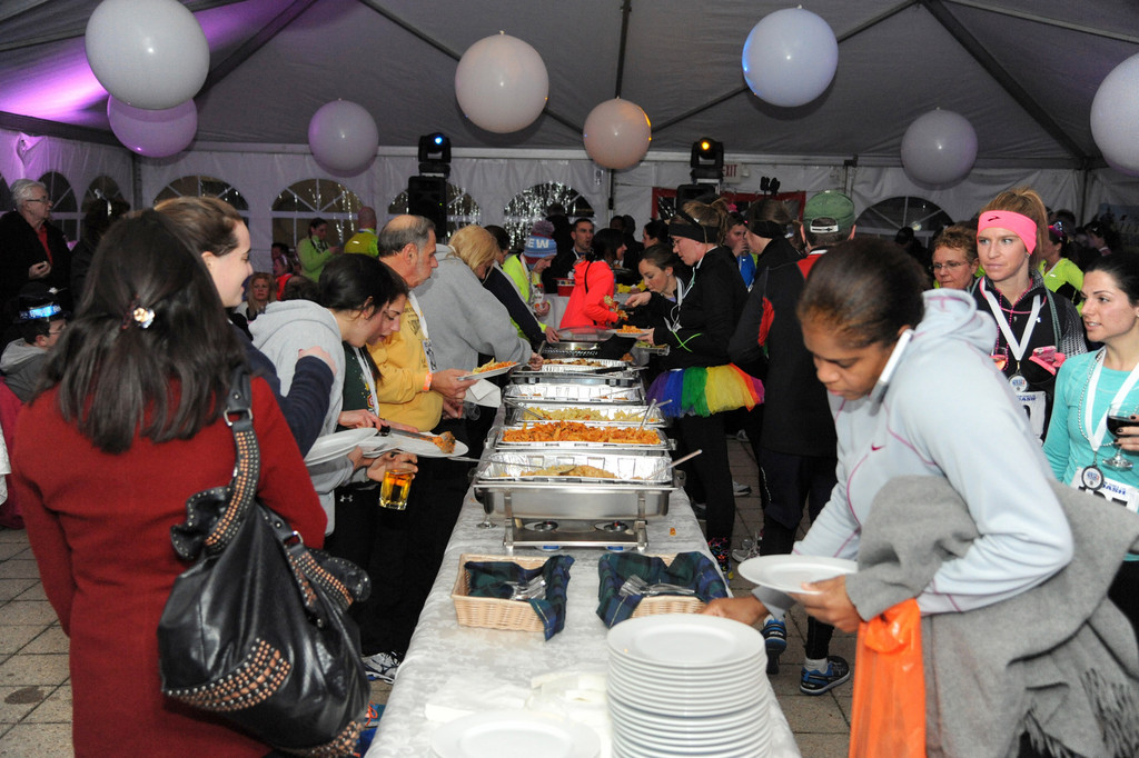 An after party followed the race, allowing runners to interact and mingle over food and drinks.