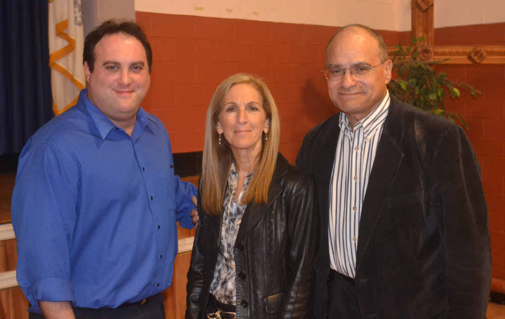 City Council members Scott Mandel, left, Fran Adelson and Len Torres continued their practice of rotating the council presidency every six months at last Tuesday's meeting.