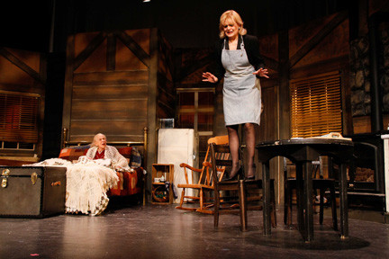 Sonya Tannenbaum, left, as Grace, and Karen Rowan as Glorie in the BroadHollow's production.