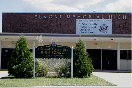 Elmont Memorial High School was on lockdown Tuesday morning.
