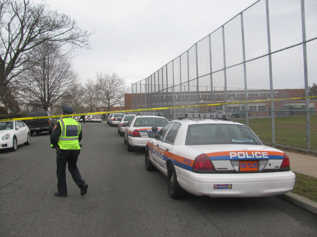 Nassau County police responded early Tuesday morning to Elmont High School after a parent reportedly called 911 about a student with a gun.