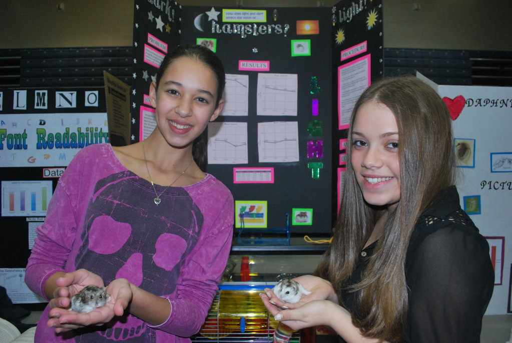 Hamsters and their nocturnal abilities was the focus of Sapir Riskovich and Kristyn Casali�s research.