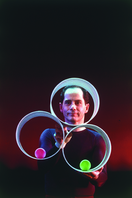Michael Moschen has redefined what it means to be a juggler. See him   demonstrate his many skills in Rockville Centre next week.