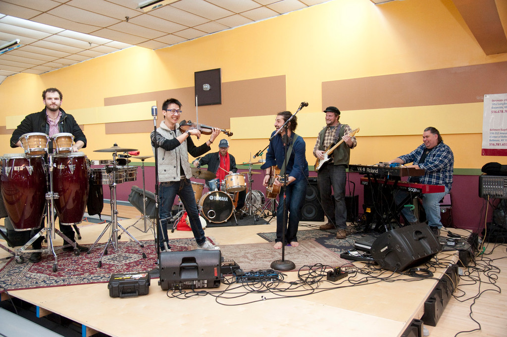 The Adam Ezra group came from Boston to play at RVC Lanes for the Long Live Long Beach fundraiser.