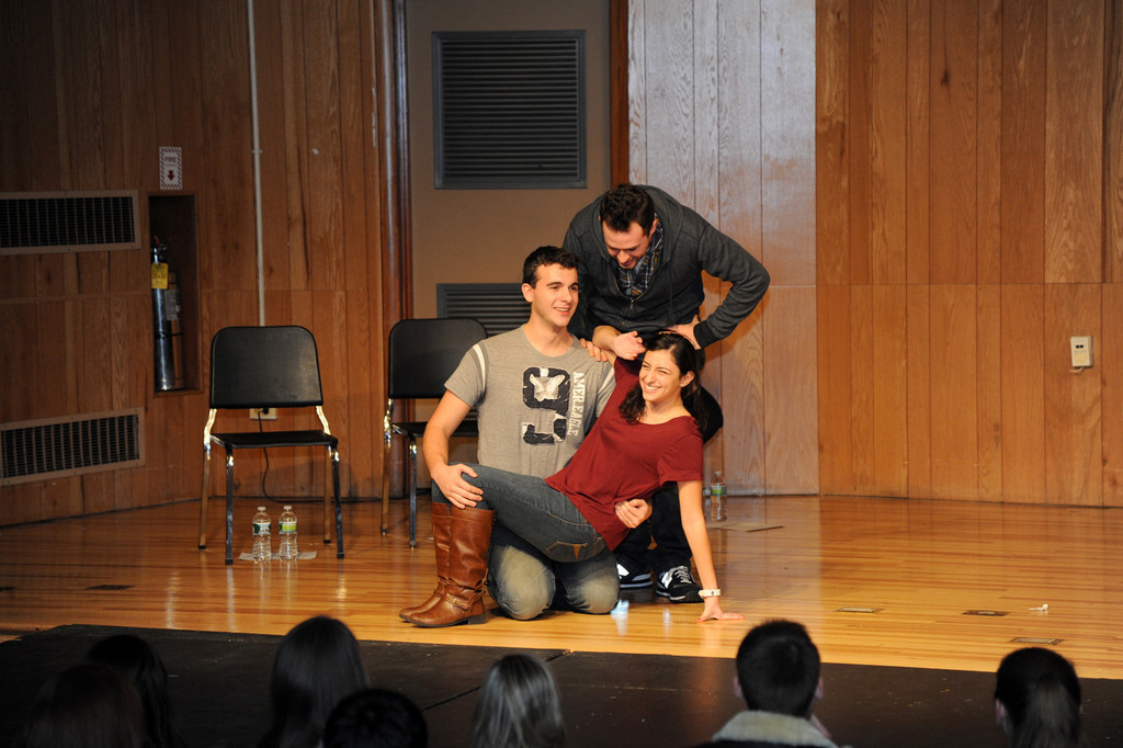 Wesley Halstead, Klein and  Gentilini-Pagonis put on a funny sketch during the Improv show.