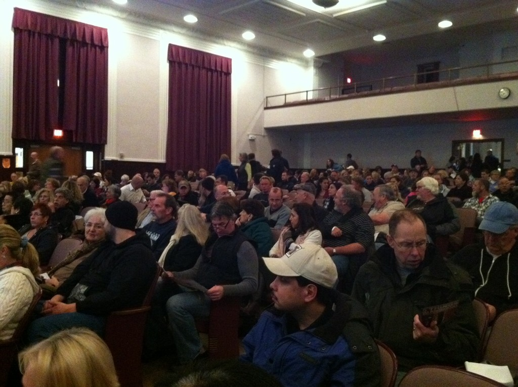 Hundreds of residents packed the Lindell School auditorium on Jan. 10 to hear from attorney John Houghtaling.