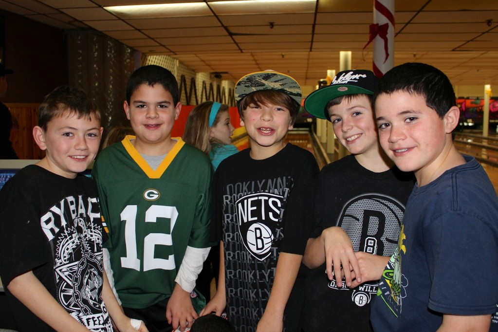 Boy Bowlers James Reardon, Connor Bermiss, Logan Karpowitz, Vincent O'Connell and Daniel Bermiss bowled for a good cause.