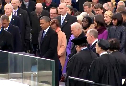 President Obama at his public inauguration ceremony today.