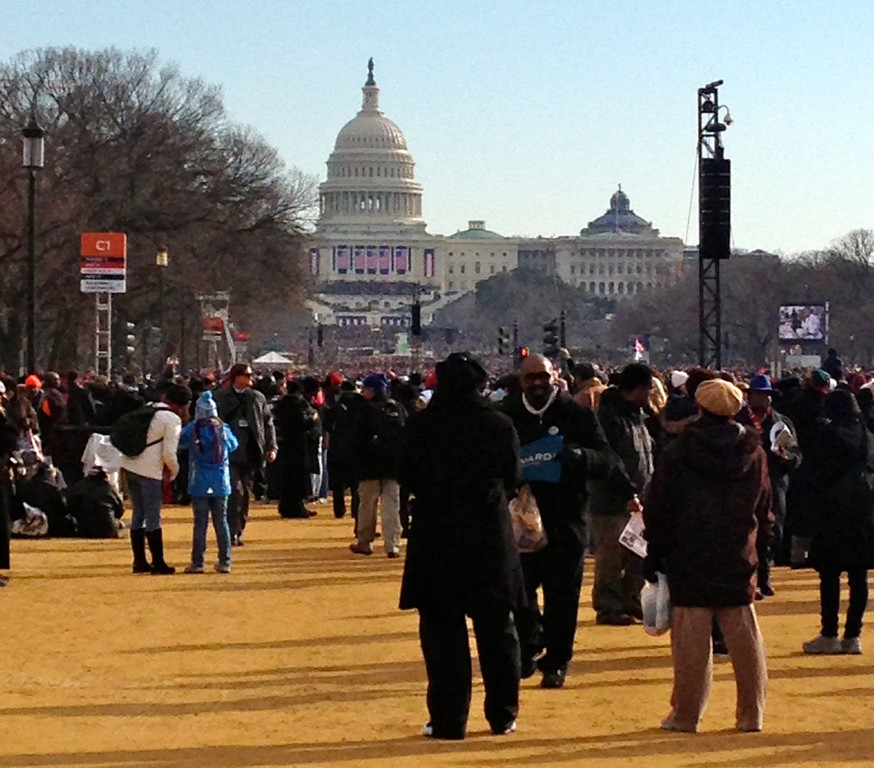 The scene on the National Mall today at the Inauguration of President Barack Obama.