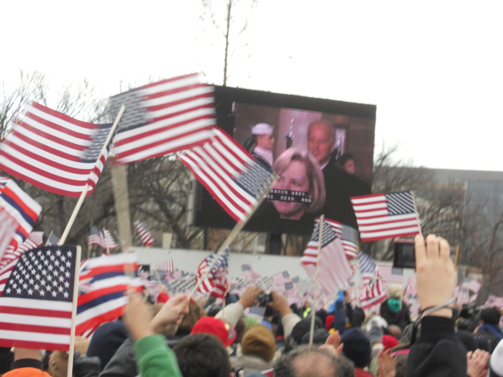 On the National Mall on Inauguration Day 2013.