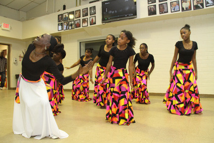 The Total Praise Dance Ministry performed for the guests.