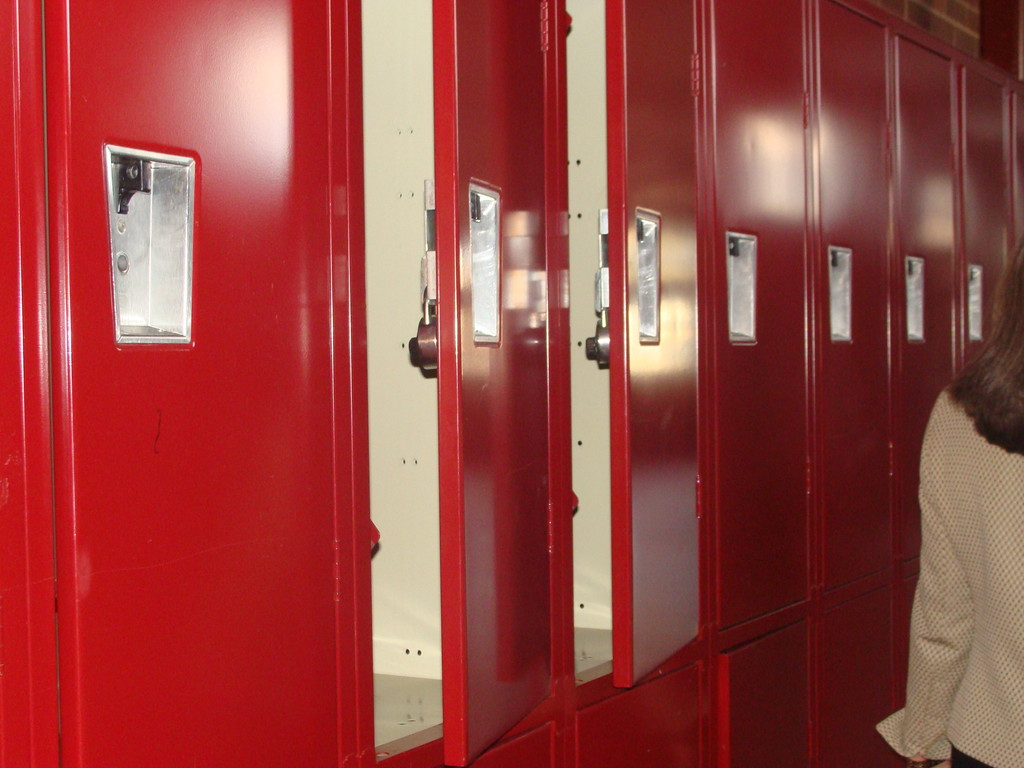 The lockers were cleaned and put back.