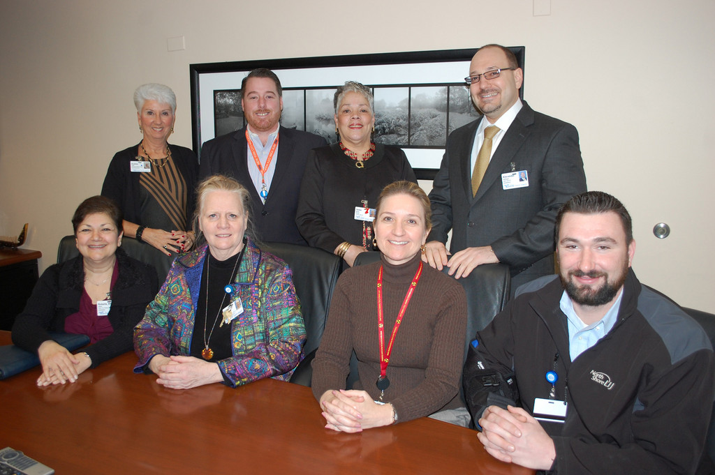 A committee held its first meeting on Jan. 17 to begin planning events to mark Franklin Hospital's 50th anniversary this year. Standing, from left, are Audrey Tullo, Vincent Cunningham, Helen White and Alex Hellinger. Seated, from left, are Roberta Dixon, Catherine Hottendorf, Elizabeth Zubko and Patrick Mack.