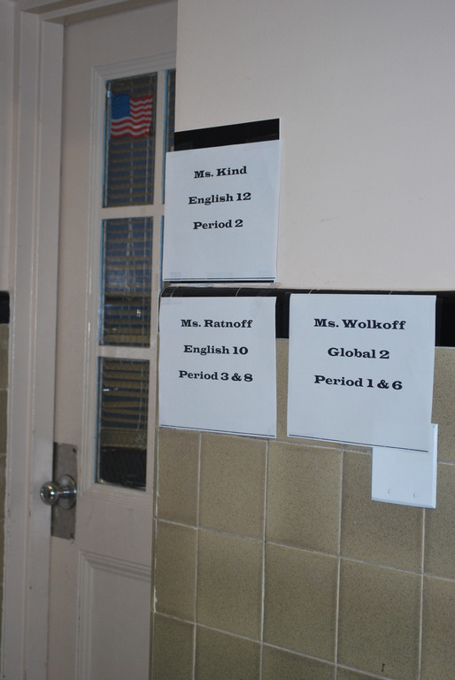 Teachers and classes are sharing Lawrence Middle School classrooms while high school students attend the middle school.